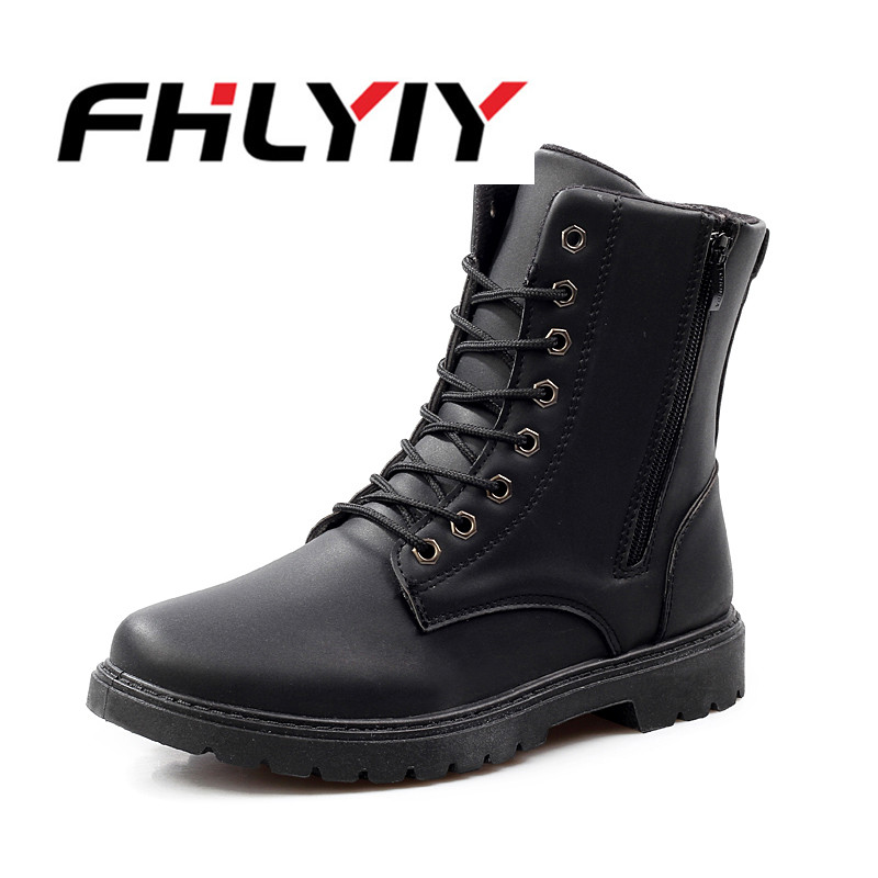 Men Boots Leather Martin Men Autumn Winter Work Shoes Ankle Boots Western Fashion British Dress Boots Cowboy Black Lace Up Boot cdts eur 37 44 winter autumn 2016 black brand martin boots pointed toe cowboy boots zipper men s boots outdoor men s shoes page 4