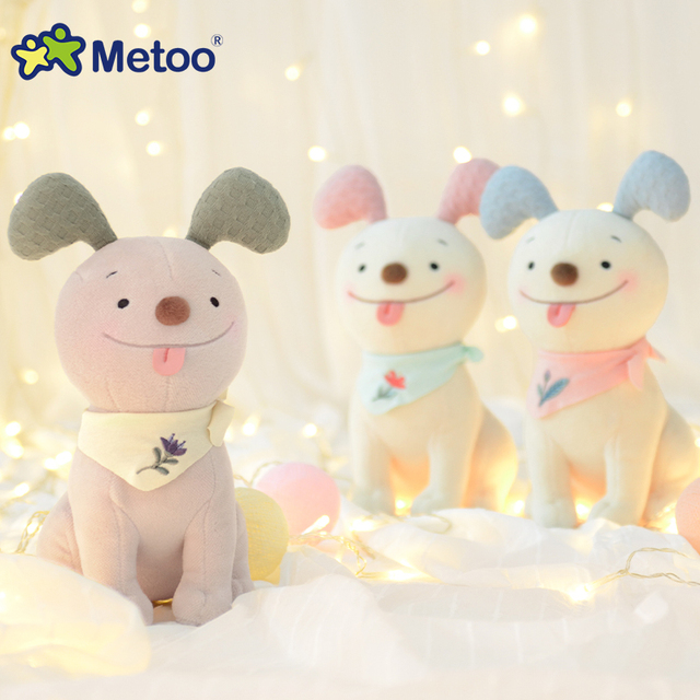 Metoo Sweet Dog Plush Dolls Crane Machine Doll Animal Kids Toys for boy girl Birthday Christmas Gift Good Quality Toy