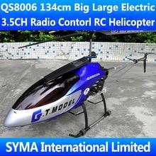 Большой 53' 134 см 3.5CH QS8006 QS 8006 RTF гироскоп металлический каркас 2 СКОРОСТИ МОТОР Радио пульт дистанционного управления электрический большой вертолет на радиоуправлении