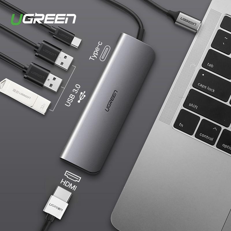 Ugreen USB-C Thunderbolt 3 Dock USB Typ C zu 3,0 HUB HDMI Adapter für MacBook Huawei Mate 20 P20 Pro konvertieren Typ-C Konverter