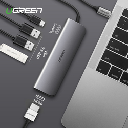 Ugreen USB-C Thunderbolt 3 Dock USB Type C to 3.0 HUB HDMI Adapter for MacBook Huawei Mate 20 P20 Pro Convert Type-C Converter