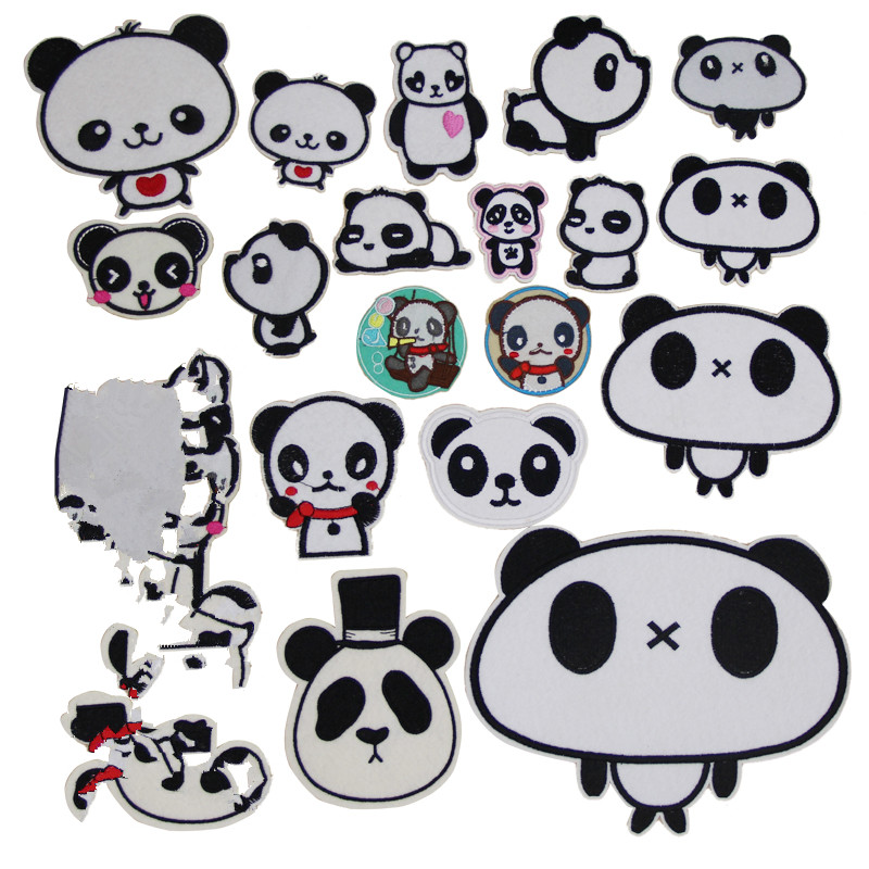 1pcs Small Cute Panda Patches For Clothing Iron On Applique Patches Shirt Bag Jacket Stickers Badges For Clothes Lshb503 Rock & Pop