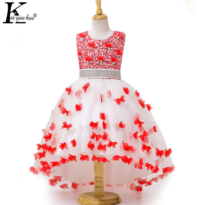 New Wedding Dress High Quality Girls Clothes Anna Elsa Costume For Kids Dresses For Girls Princess Party Dress Children Clothing 2017 new girls dresses for party and wedding baby girl princess dress costume vestido children clothing black white 2t 3t 4t 5t