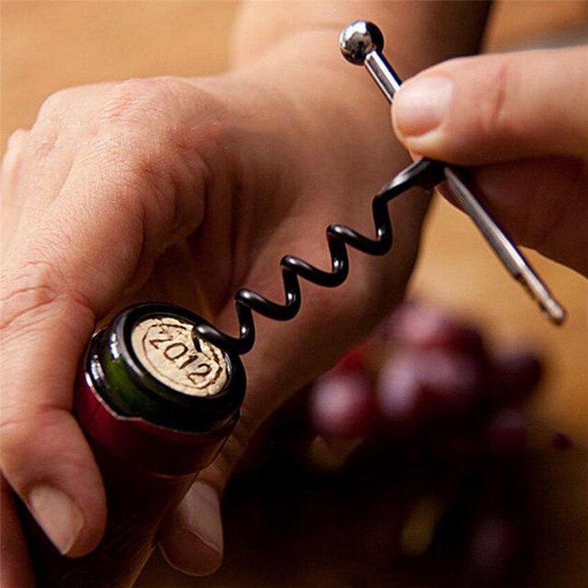 Travel Multifunctional Mini Outdoor Wearable  Stainless Steel Red Corkscrew Wine Bottle Opener Portable Bottle Opener