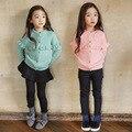 Весна осень трикотажные дети свитера для детей одежда для девочек 2017 новый вязание свитера девушки принцесса пальто зеленый розовый кардиган