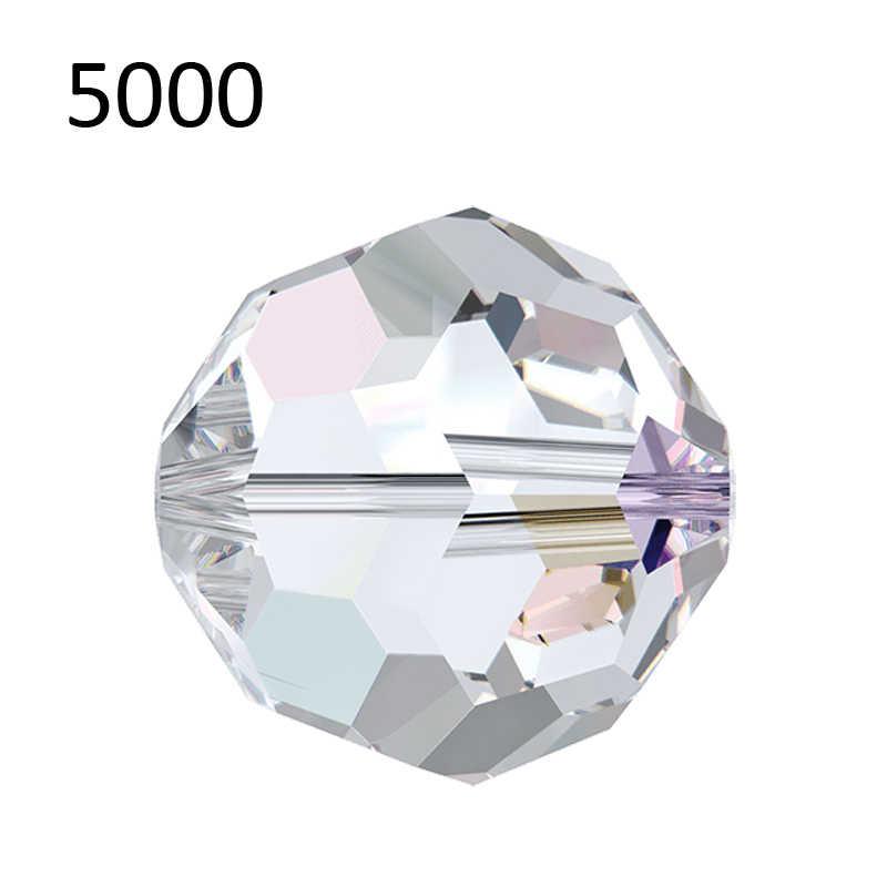 (1 pieza) cuentas de cristal de bolas de 6mm de Swarovski 5000, cuentas redondas atemporales para fabricación de collares y pulseras hechas a mano DIY