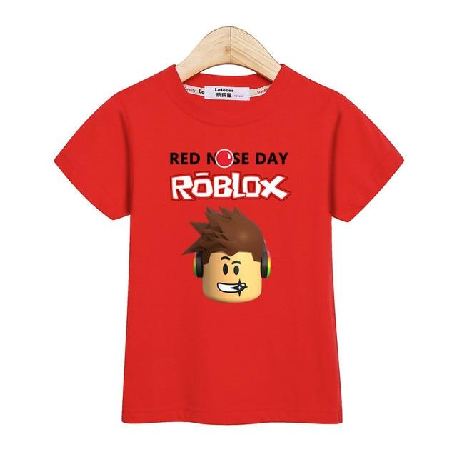 Lolocee boy roblox camiseta niños ropa manga corta verano camisa 100% algodón niños pequeños tops Roblox chica tee Niño ropa