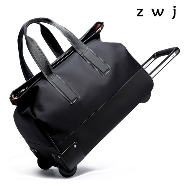 à 20 valise sac roulettes voyage de bagages grande capacité Oxford chariot voyage sac grand pouce 446qnAr7