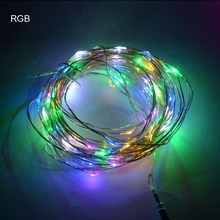 10m 100leds Copper Wire LED StarryLights 12 V DC LED String Light, LED starrydecor holiday Christmas tree holiday garden lamp