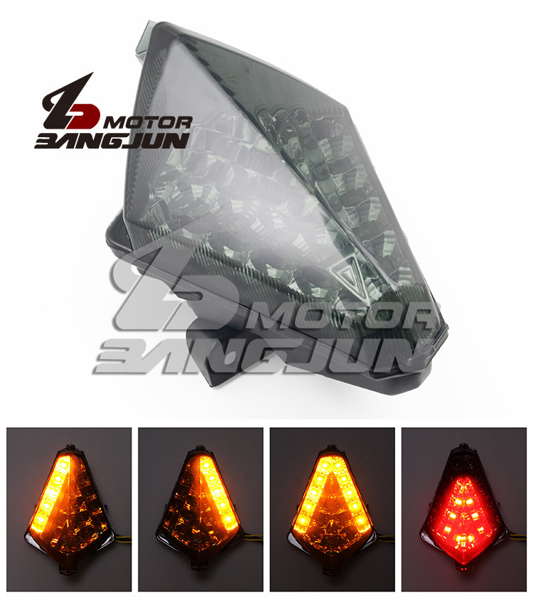 2012 2013 2014 Year Dirt Pit Bike Motocross Scooter Smoke Lens Moto Brake Light For Yamaha T-MAX530 Tail Light Motorcycle LED