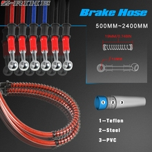 for Motorcycle Dirt Bike Braided Steel Hydraulic Reinforce Brake line Clutch Oil Hose Tube 500 To 1200mm Universal Fit Racing universal 500mm 2400mm motorcycle dirt bike braided steel hydraulic reinforce brake line clutch oil hose tube for most motor