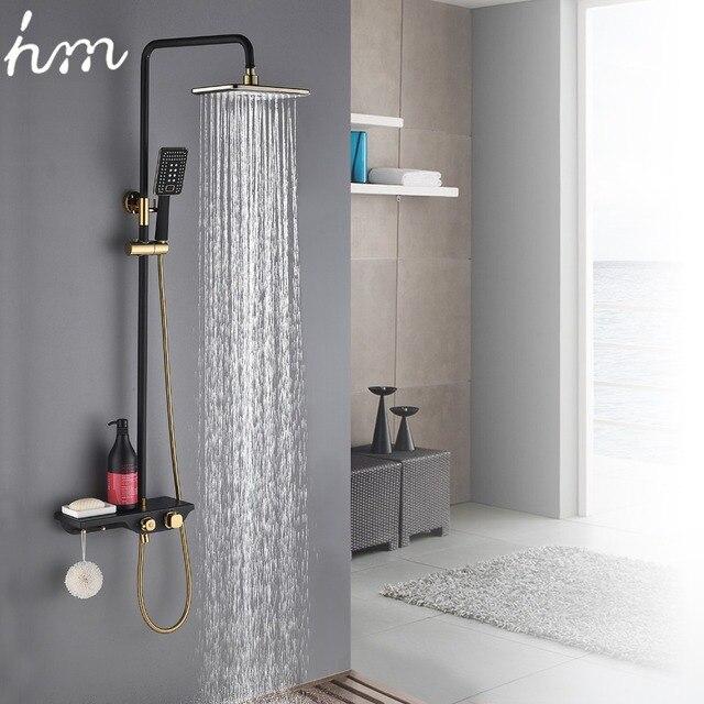 Bestpreis Hm Schwarz Gold Wasserhahn Dusche System Bad Wc