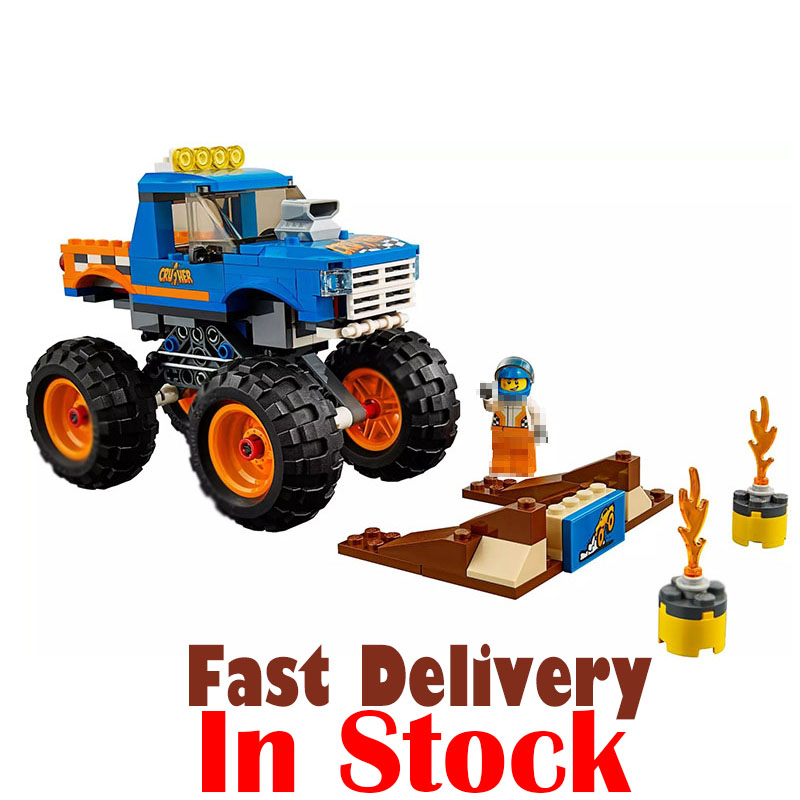 Lepin 02091 DIY Building Block City Big wheels Monster Lorry Truck Model Enlighten Brick Toys For Children gifts legoINGly 60180 loz mini diamond block world famous architecture financial center swfc shangha china city nanoblock model brick educational toys
