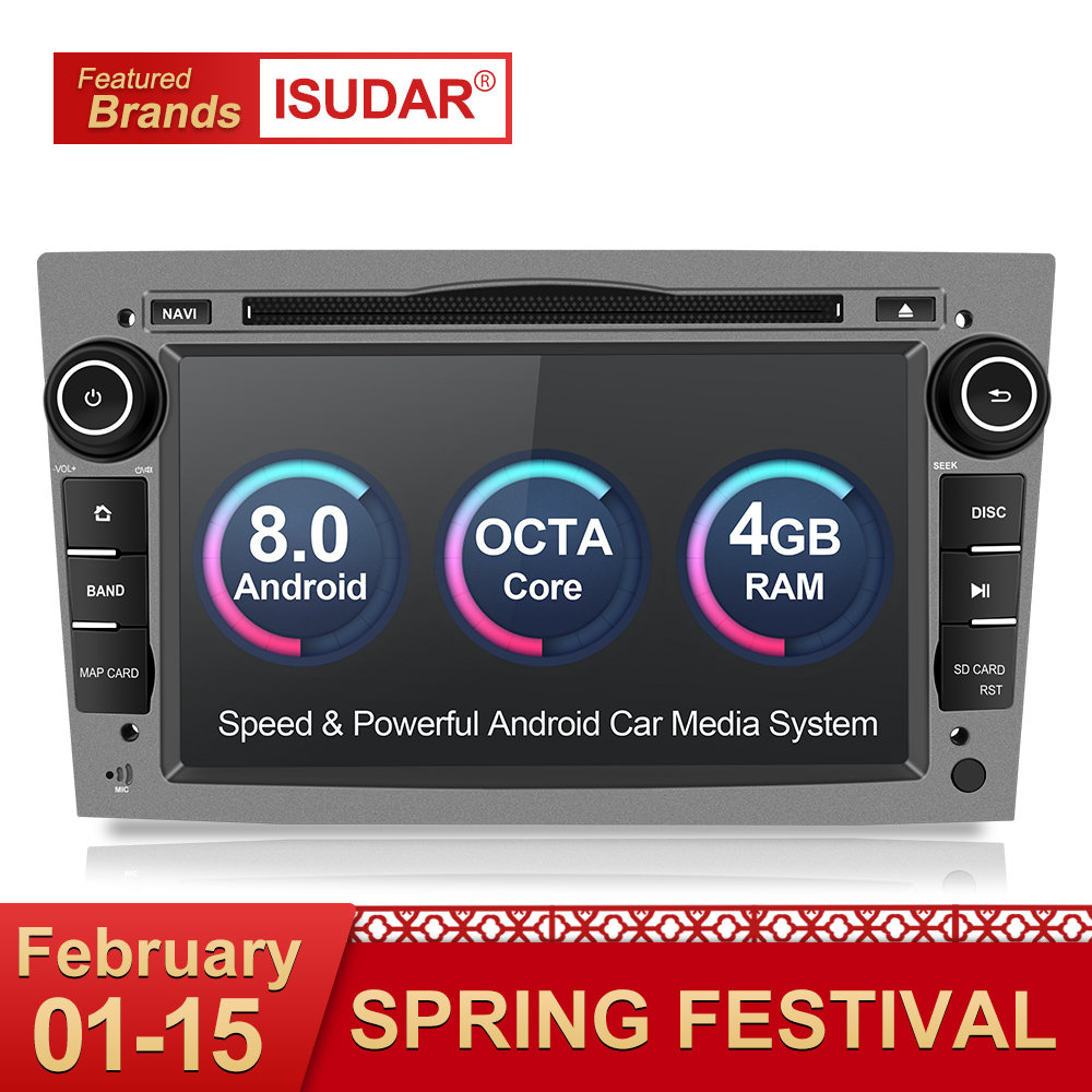 Isudar Car Multimedia Player 2 din Car Radio GPS Android 8.0 For OPEL/ASTRA/Zafira/Corsa 4GB RAM Wifi Microphone OBD2 Bluetooth