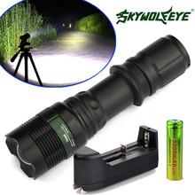 HOT bicycle light 2 Sets 5000Lumen Tactical T6 LED Flashlight Torch Zoomable 18650 Battery+Charger NEW august30