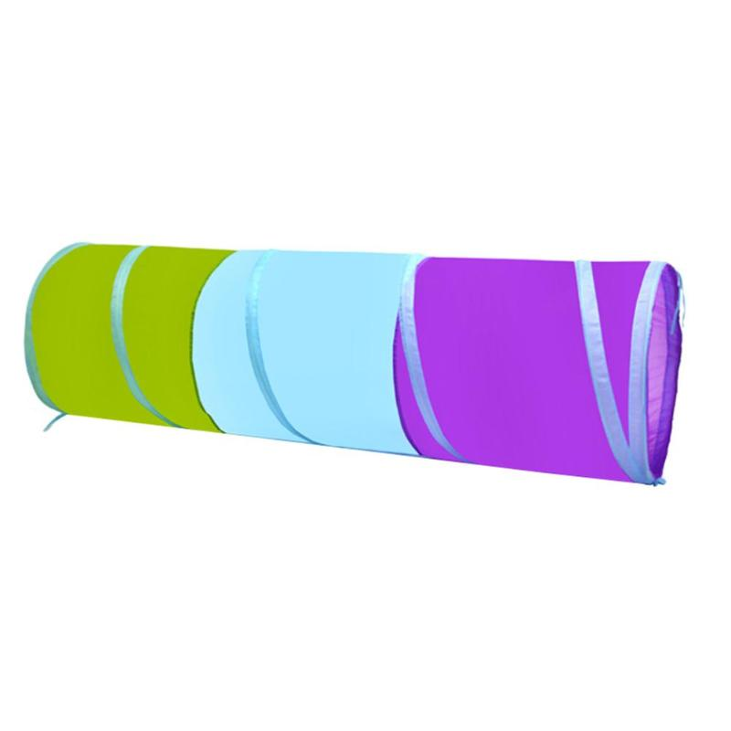 Kids Crawl Foldable Tunnel Portable Toy Tent for Children Tricolor Tunnel Indoor Outdoor Play Activity Playhouses Games