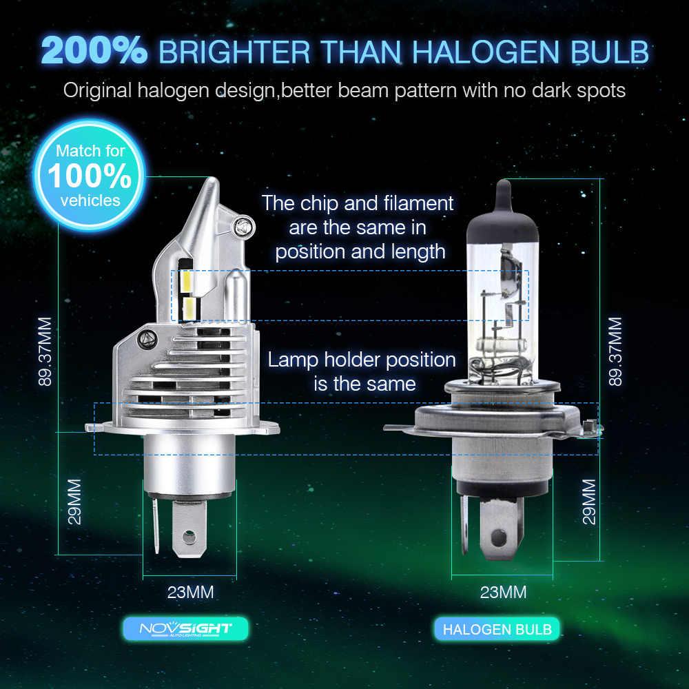 1:1 DESIGN NOVSIGHT H4 LED Headlight H7 H11 H16JP 9005 9006 9012 D1S P13 PSX24W PSX26W 10000LM 6500K White Running Light