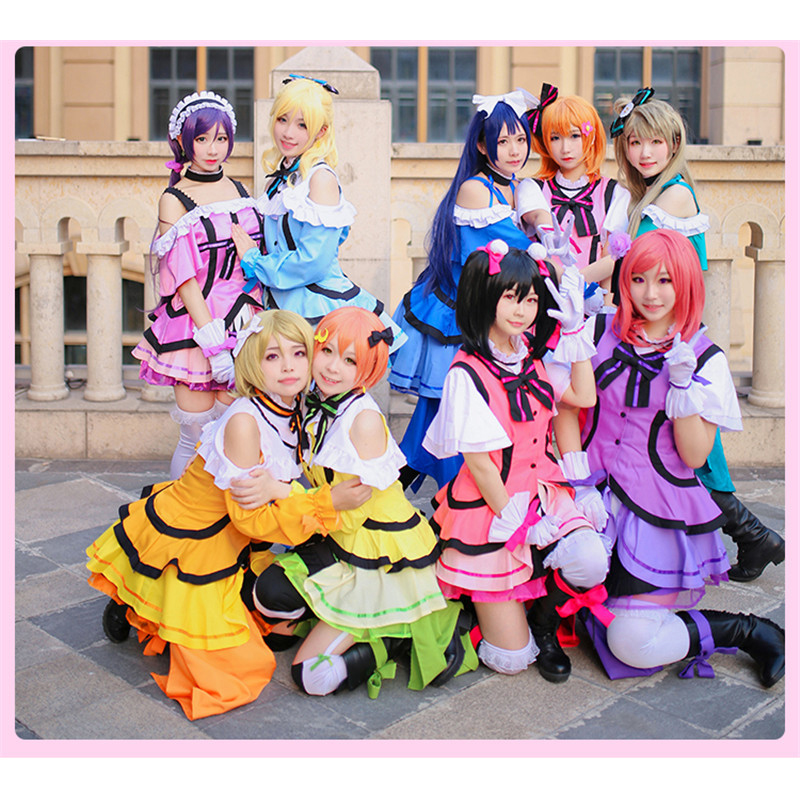 Love Live! Sunshine!! Aqours Mijuku Dreamer ED All Members Kimono Uniforms Cosplay Costume Free Shipping