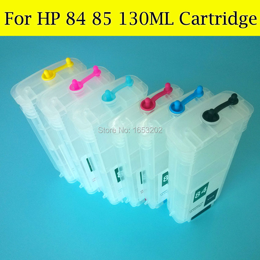 BOMA.LTD Empty Refill Ink Cartridge For HP 85 HP84 With Auto Reset Chip For HP Designjet 90/30/130 Printer for hp 84 85 printhead for hp 84 85 c5019a c9420a c9423a designjet 30 90 130 printer head