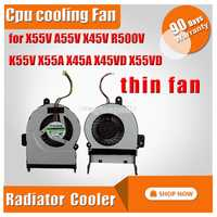 Ventilateur de refroidissement pour Asus X55V A55V X45V R500V K55V X55A X45A X45VD X55VD section mince ordinateur portable CPU radiateur refroidisseur