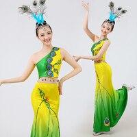 chinese folk dance costumes stage dance wear peacock costumes traditional chinese costume stage costume dance wear hanfu women