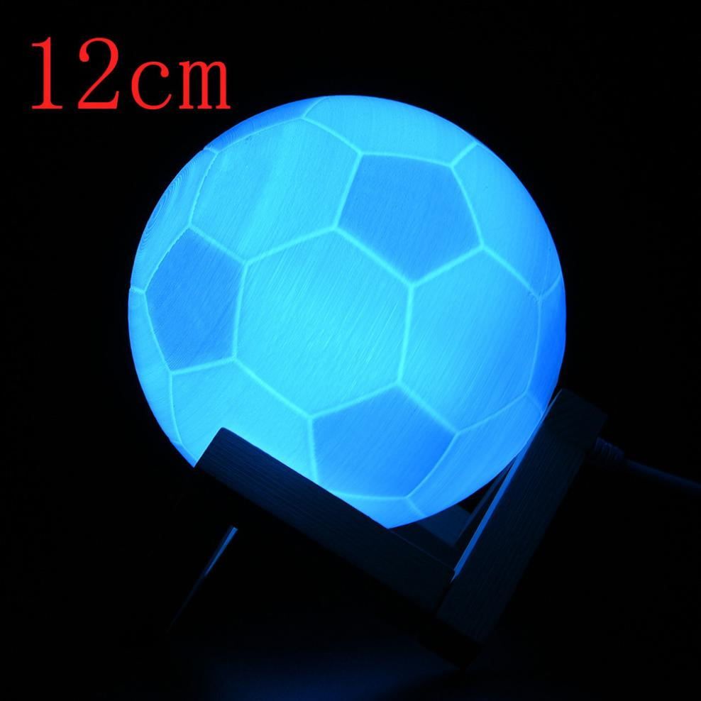 2018 NEW MUQGEW 3D USB LED Magical Football Night Light Table Desk Football Lamp Gift Night Light Home Decor Creative Gift remote control led light creative monje smart air purifier wireless night lights sensor lamps gift table desk lamp
