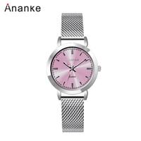 ANANKE Luxury Brand Gold Watches Women Fashion Casual Quartz Wristwatch For Ladies Clock Woman Unique Design