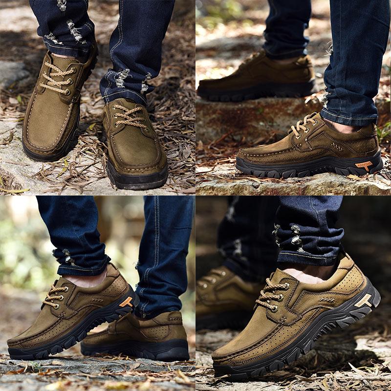 Pria Kulit Sepatu Kasual Oxfords Handmade sepatu Lace Up Gennine - Sepatu Pria - Foto 4