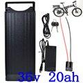 1000 Вт 36В 20ач батарея для электрического велосипеда 36В 20ач литий-ионный аккумулятор 36В 20ач батарея для электровелосипеда с 30A BMS и 42В 2A зарядн...