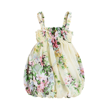 Summer Newborn Kid Baby Girl Dress Floral Fluffy Dress Sleeveless Party Pageant Dresses Sundress Cute Baby Girl Clothes