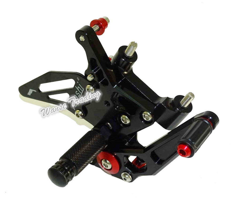 CNC Aluminium Adjustable Rider Rear Sets Rearset Footrest Foot Rest Pegs Black For DUCATI 1199 Panigale R/S 2012 2013 2014 2015