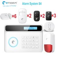 EU/UK/USA plug wireless etiger S4 RFID alarm systems security home intruder intrusion SMS call alert set