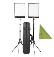 FalconEyes 2Kit RX-12TD Bi-Color Dimmable 3000K-5600K 50W Waterproof Flexible Studio Light for Photography