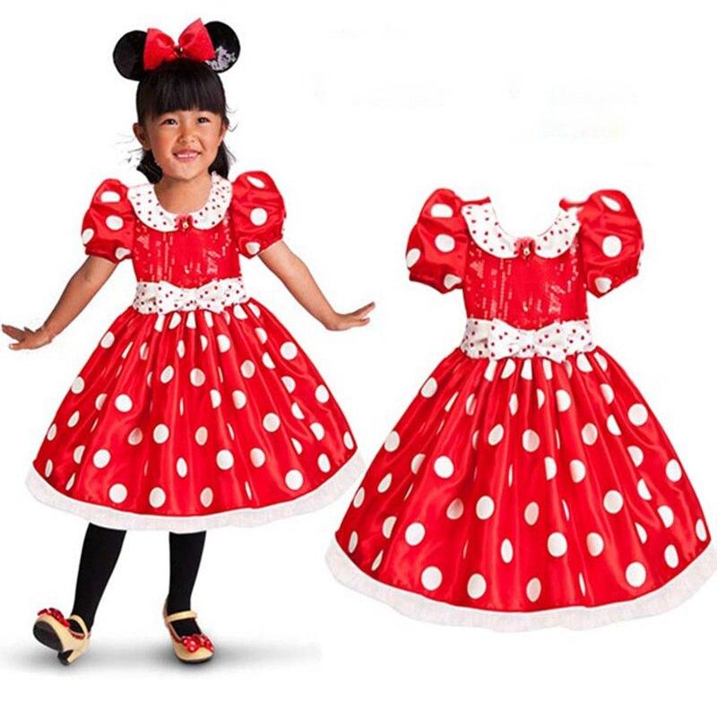 0a2b923d5 الأحمر الطفل اللباس للبنات مع ملابس أطفال سوداء ذات نقاط بولكا بيضاء الصيف  جديد وصول الاطفال الملابس ثوب أطفال طفل الزي بيبي الملابس