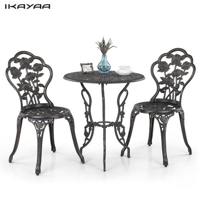 IKayaa 3 UNIDS Moderno Juego De Muebles De Jardín Patio Al Aire ...