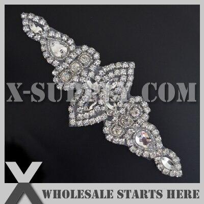 Free Shipping Crystal Rhinestone Appliques for Wedding Bridal Sash Headband and Shoe Wholesale Bulk