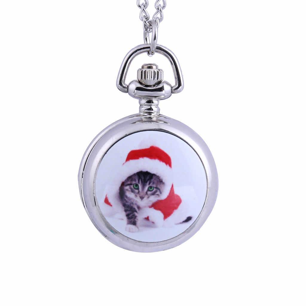 ใหม่กระเป๋าขนาดเล็กน่ารักแมวทนทานแฟชั่น Sliver จี้สำหรับครอบครัวคนรักเพื่อน cep saati relógio de bolso