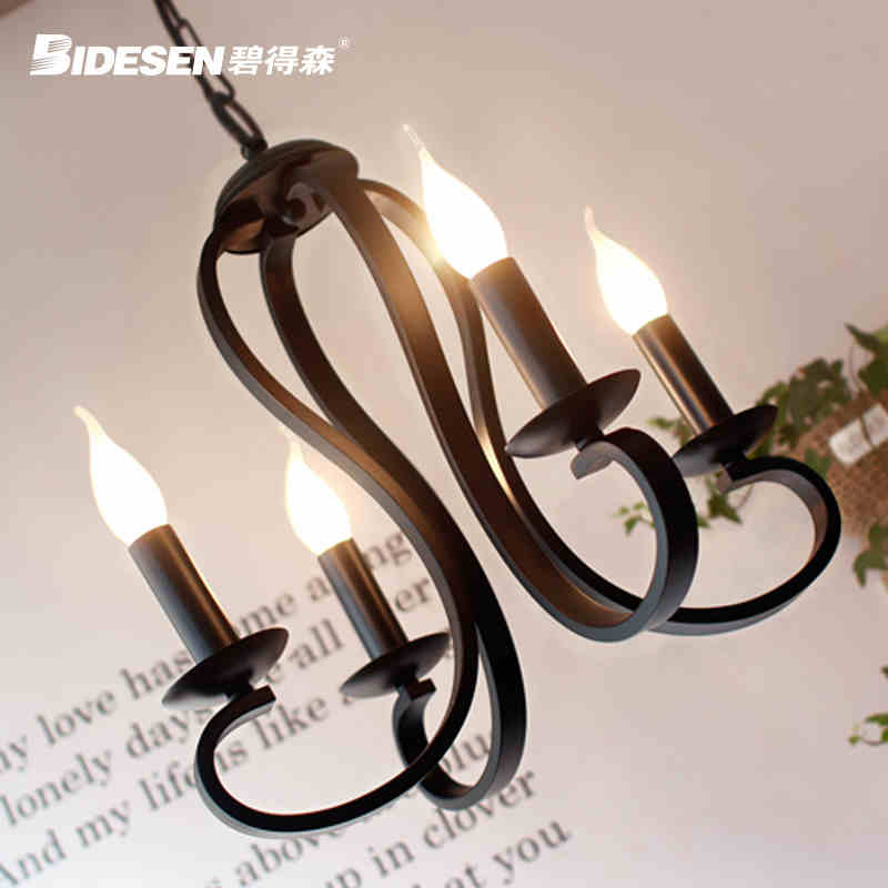4 Head Northern Europe Contracted Style Black / White Wrought Iron Pendant Light Foyer Light Cafe Decoration Lamp Free Shipping universal 360 degree rotatable car air vent holder for cell phone black