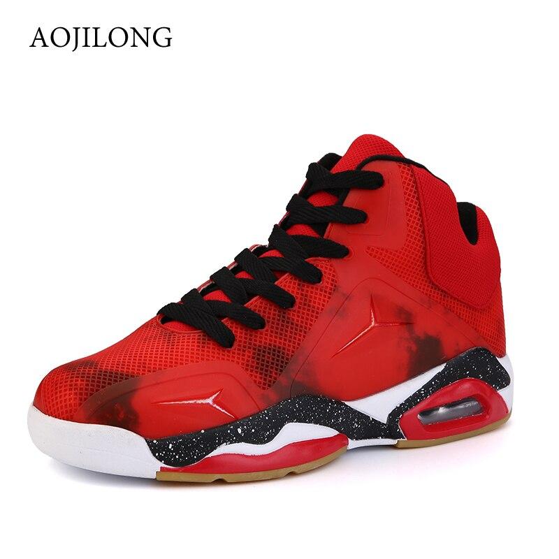 MANLI Nouvelle de Basket-Ball Chaussures Mesh Respirant Panier Femme Rouge Rétro Chaussures Confortable de Style Britannique Hommes En Plein Air Air Chaussures de Marche