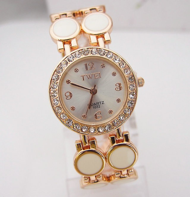 Luxury rose gold tone watch women Lady crystal Rhinestone dress quartz wristwatch Relogio Feminino TW022 top luxury crystal brief design lady elegance slim strap leather wristwatch waterproof women quartz watch relogio feminino gift