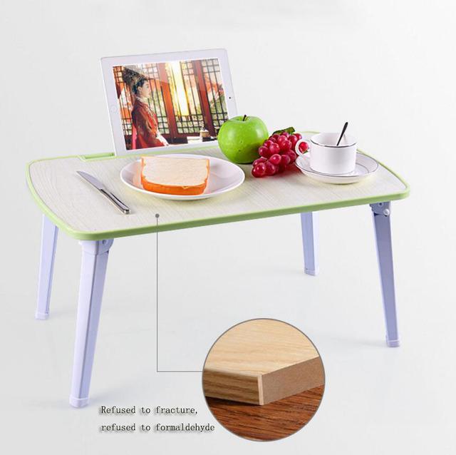 Laptop cama mesa mesa dormitório dormitório salas simples mesa de estudo dobrável Dobrável mesa do computador Com slot para cartão SE27