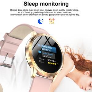 Image 5 - AMYNIKEER CF18 Smart Bracelet Heart Rate Blood Pressure Monitor Pedometer Health Tracking Waterproof Mens  Womens Watch Band