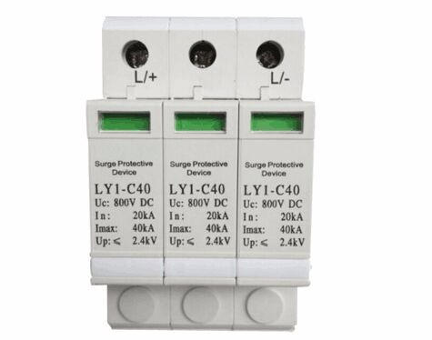 цены  Hot sale Low price Photovoltaic 20-40ka 800v DC 3P Surge Protector