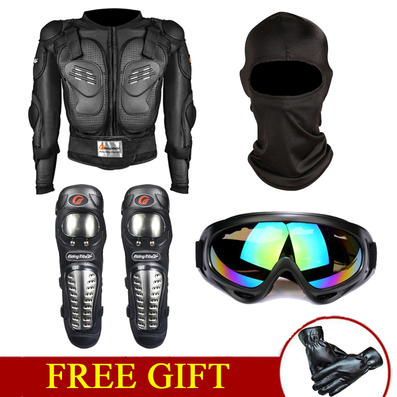 Adult Kids MX Motocross Body Armour Suit Gear Jacket White Tinted Goggles