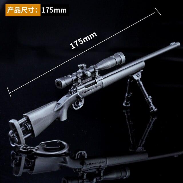 R$ 22 03 13% de desconto|M24 PUBG Game Playerunknown's Battlegrounds Pans  3D gun Model em Fantasia de festa de Novidade e uso especial no