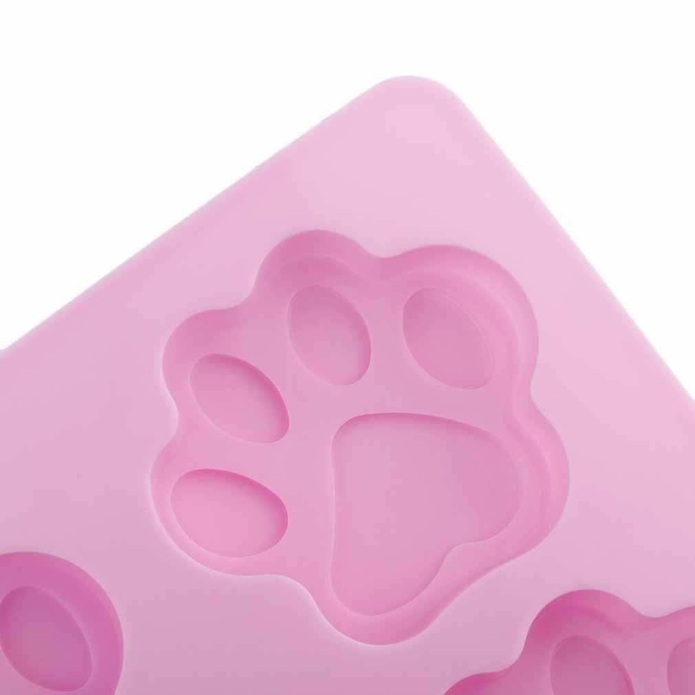 الوردي 7.5*1 سنتيمتر (D * H) جميل الحلو متعددة الوظائف الكلب باو قالب من السيليكون آيس كيوب كعكة الصابون الخبز قالب اكسسوارات المطبخ