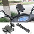 360 grados de rotación de la motocicleta del montaje del manillar sostenedor del teléfono móvil para htc iphone 5s 6 s samsung xiaomi teléfonos celulares gps universal