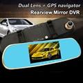 "Android GPS Navigator Rearview Mirror Car DVR HD Dash Cam 1080P Car Camera Dual Lens 5.0"" Video Registrator Wifi Car Camcorder"