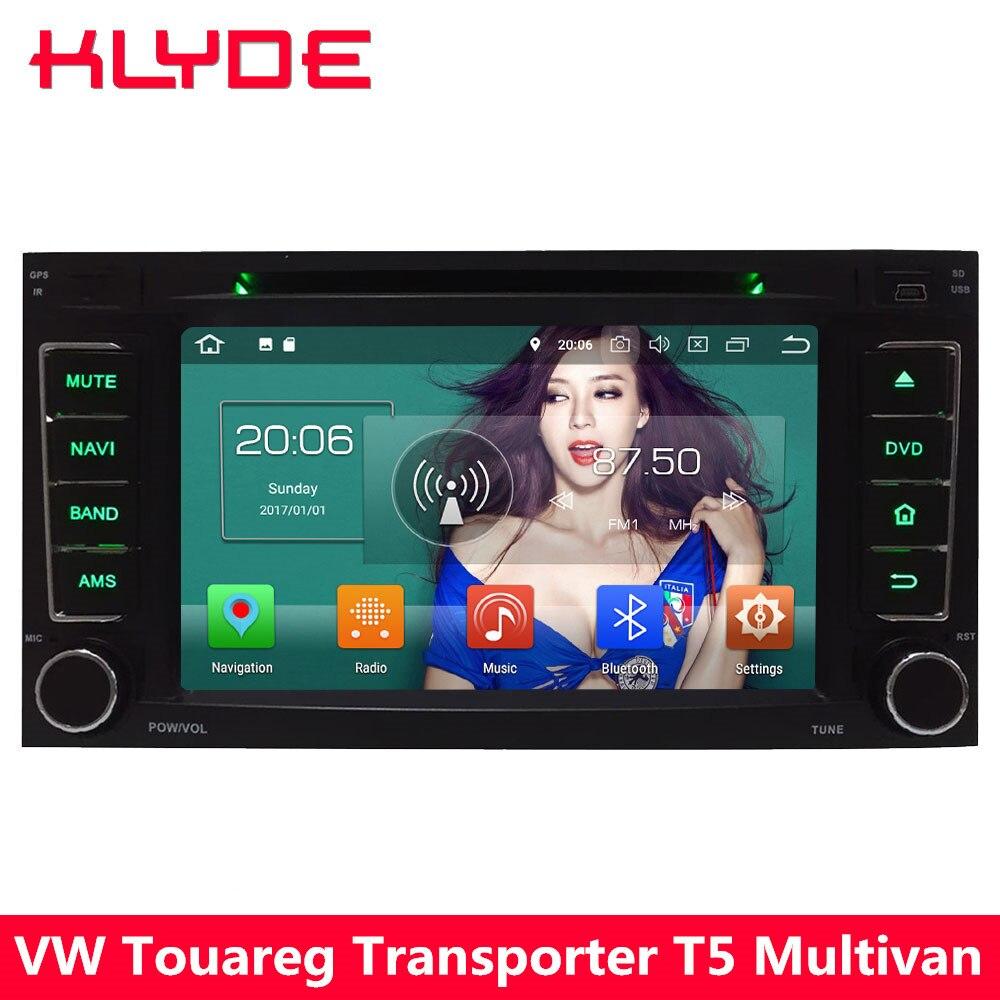 KLYDE 4G Android 8.0 Octa Core 4GB RAM 32GB ROM Car DVD Multimedia Player Radio For Volkswagen Touareg Multivan Transporter T5