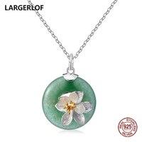 LARGERLOF 925 Sterling Silver Pendant Necklace Women Fine Jewelry Silver 925 Jewerly Necklaces Pendants PD70005